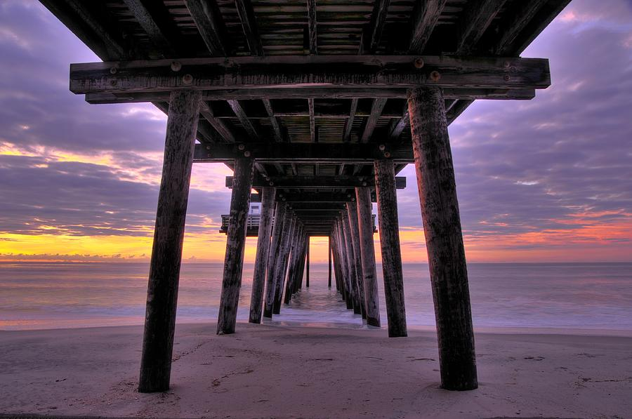 Fishing Pier Photograph - Purple Sunrise by Dan Myers