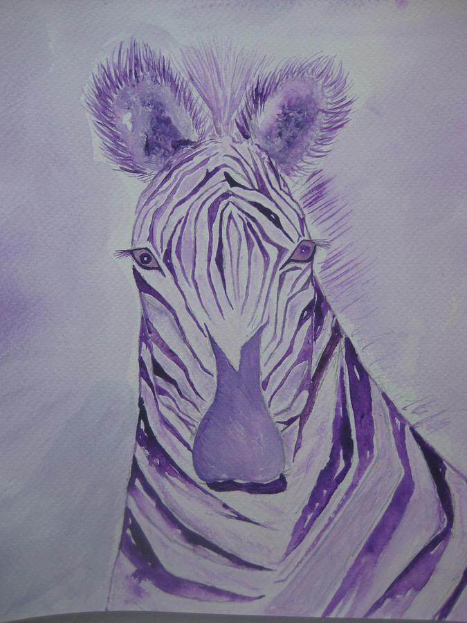 Purple zebra painting