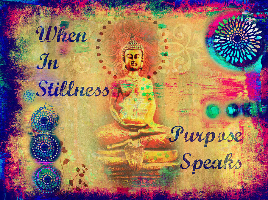 Purpose Speaks Digital Art  - Purpose Speaks Fine Art Print