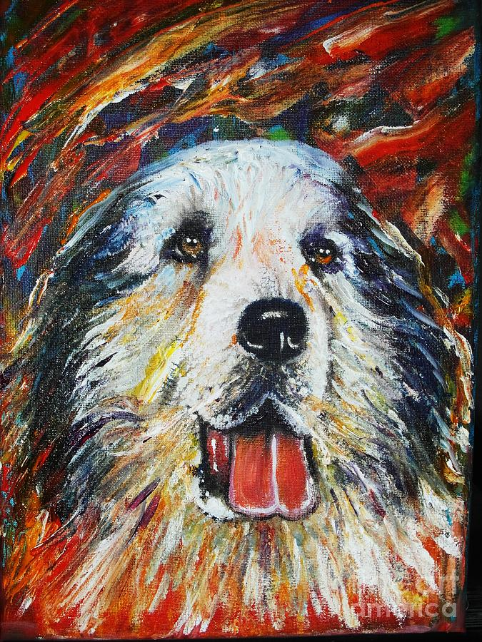 Pyrenean Mountain Dog Painting  - Pyrenean Mountain Dog Fine Art Print