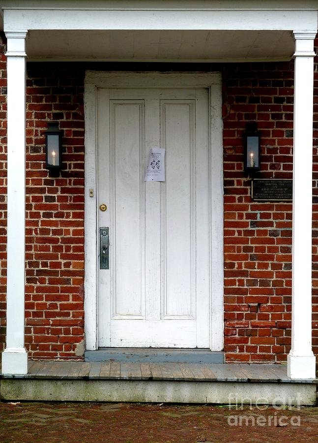Quaker Meeting House Doorway Photograph