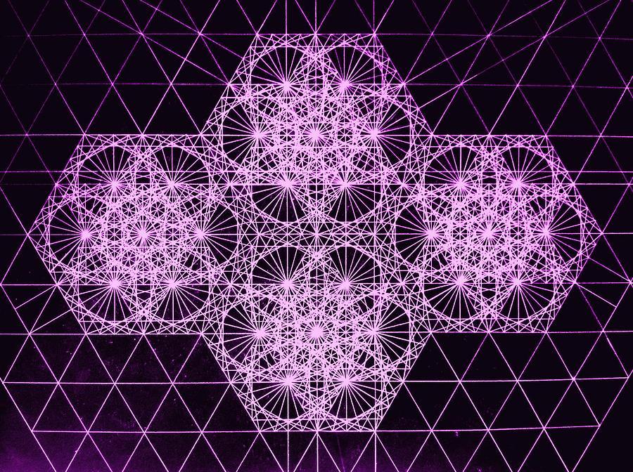 Quantum Drawing - Quantum Snowfall by Jason Padgett