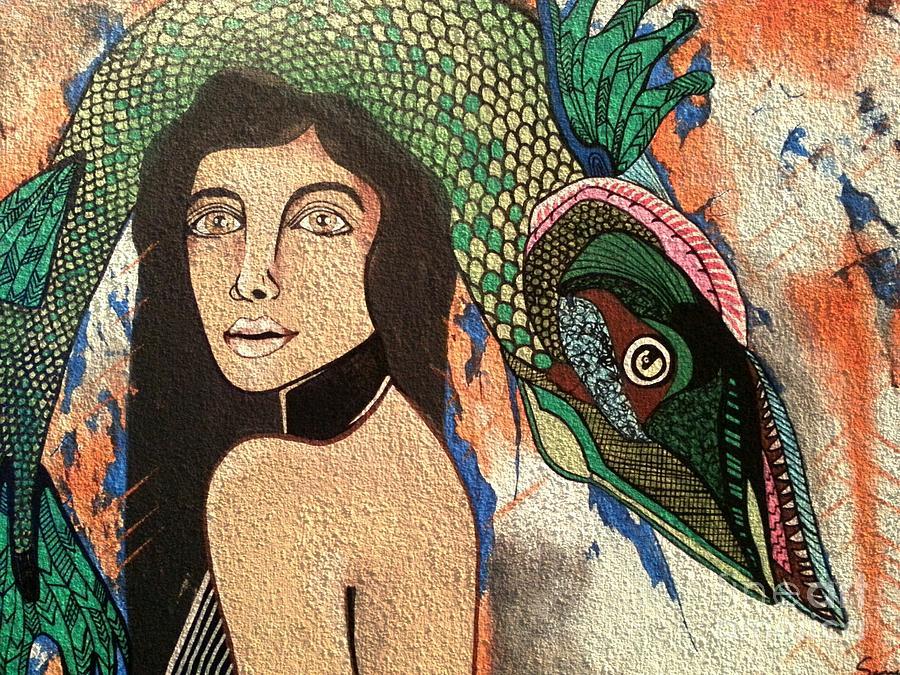 Queen Fish Head Painting