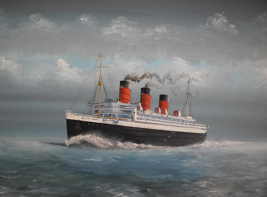 Queen Mary Painting  - Queen Mary Fine Art Print