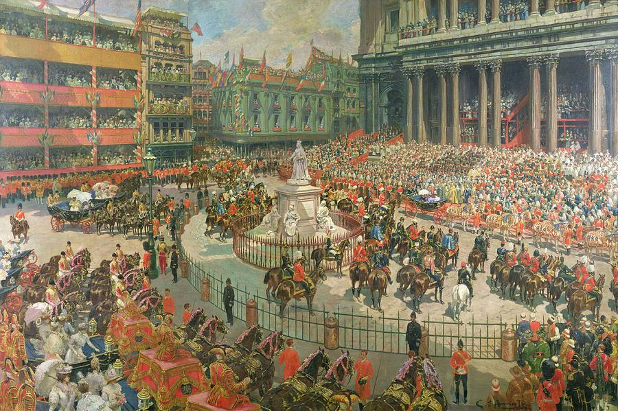 Queen Victorias Diamond Jubilee, 1897 Painting