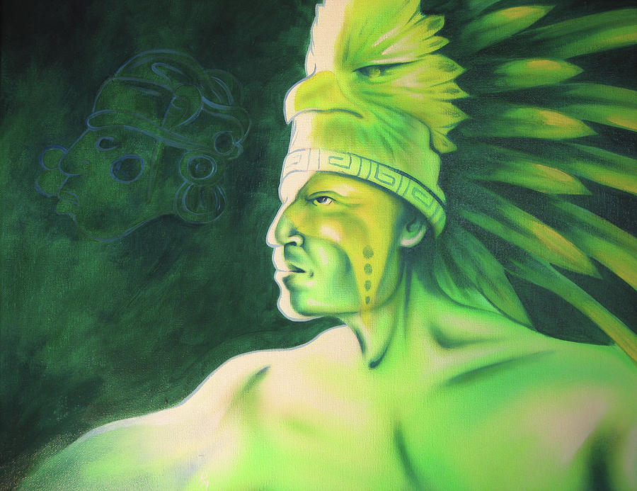 Native American Art Painting - Quetzal by Robert Martinez