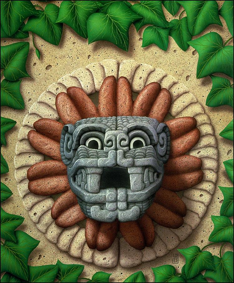 Quetzalcoatle Painting - Quetzalcoatl by WB Johnston
