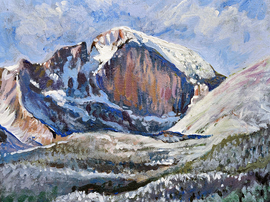 Quick Sketch - Longs Peak Painting