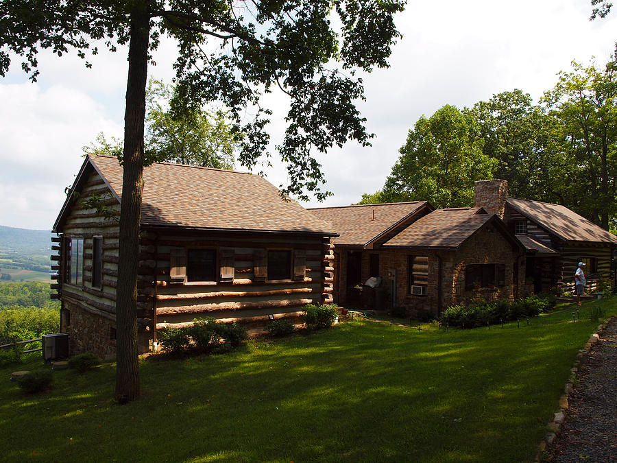 Quiet Cabin On A Hill Photograph