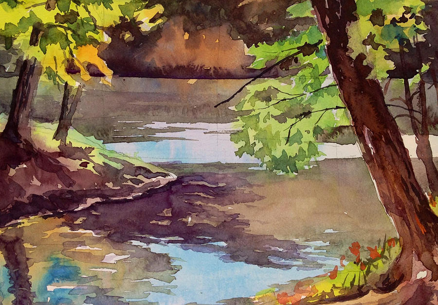 Quiet Cove Painting  - Quiet Cove Fine Art Print