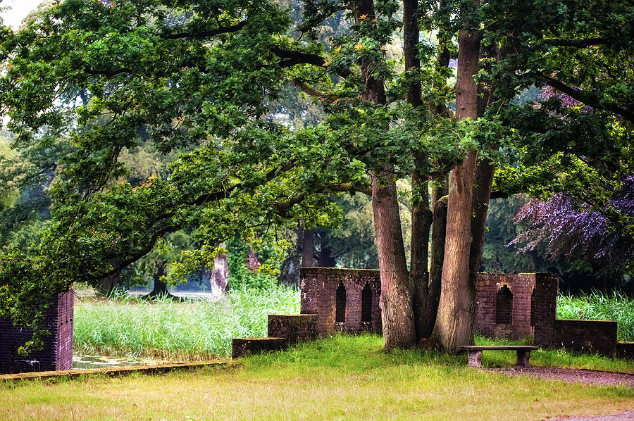 Quiet Park Corner. De Haar Castle Photograph