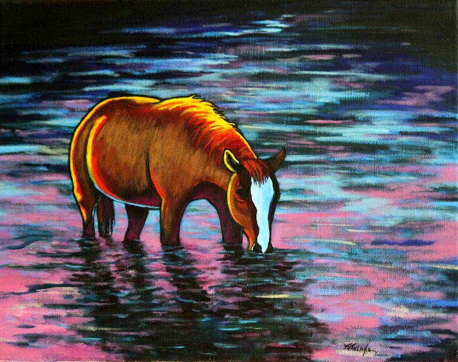 Quiet Reflections Brood Mare Painting