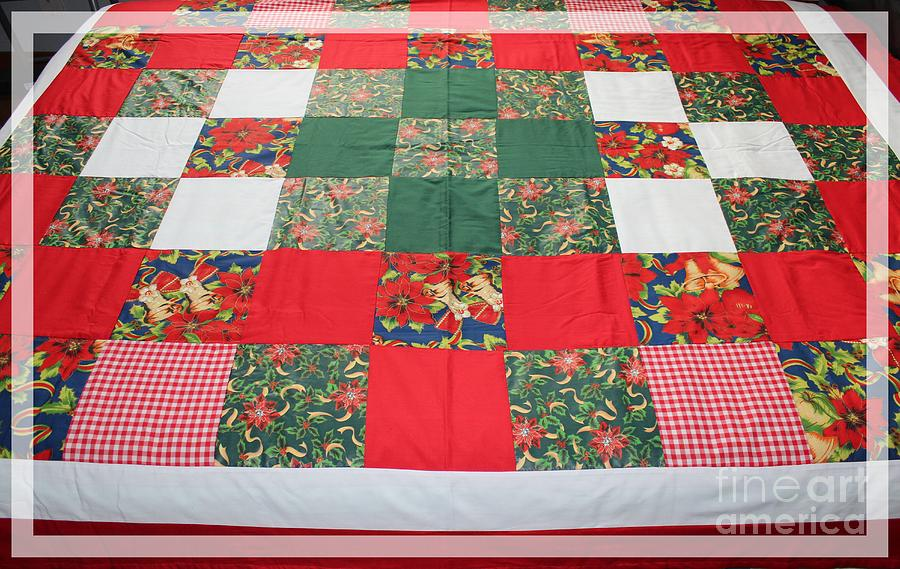 Quilt Christmas Blocks Tapestry - Textile