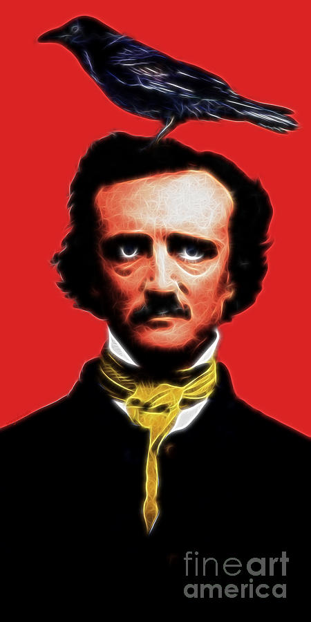 Quoth The Raven Nevermore - Edgar Allan Poe - Electric Photograph  - Quoth The Raven Nevermore - Edgar Allan Poe - Electric Fine Art Print