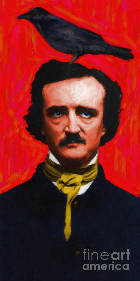 Quoth The Raven Nevermore - Edgar Allan Poe - Painterly Photograph  - Quoth The Raven Nevermore - Edgar Allan Poe - Painterly Fine Art Print