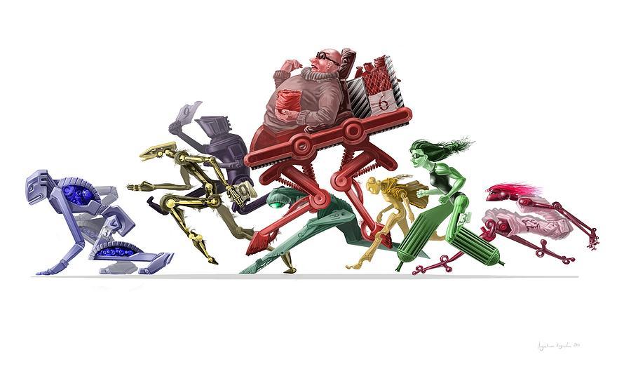 Race Digital Art - Race by Augustinas Raginskis