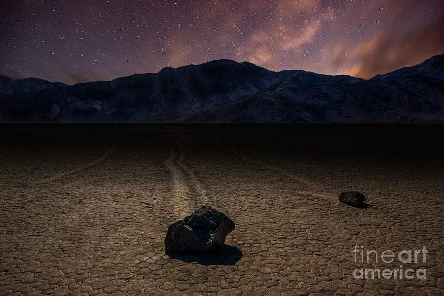 Racetracks Photograph - Racetrack Playa by Deryk Baumgaertner