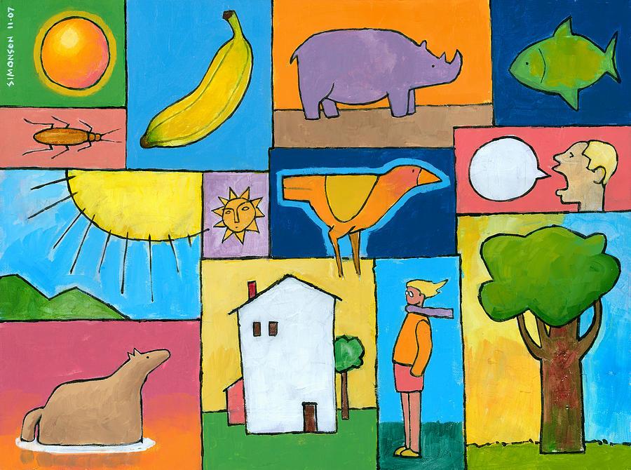 Whimsical Painting - Rachels Painting by Douglas Simonson