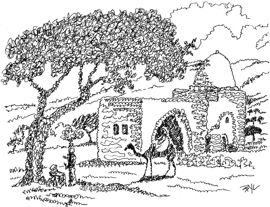Rachels Tomb In Bethlehem Drawing