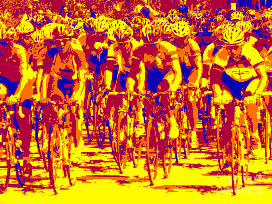 Racing Pelaton Photograph