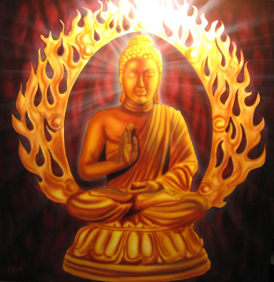 Radiant Buddha Painting