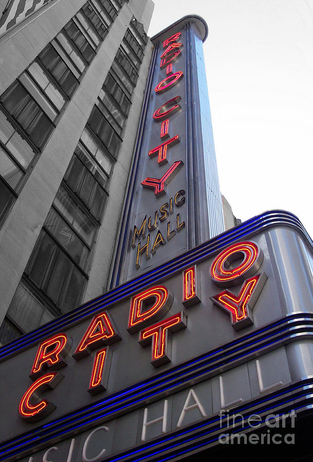 Radio City Photograph  - Radio City Fine Art Print