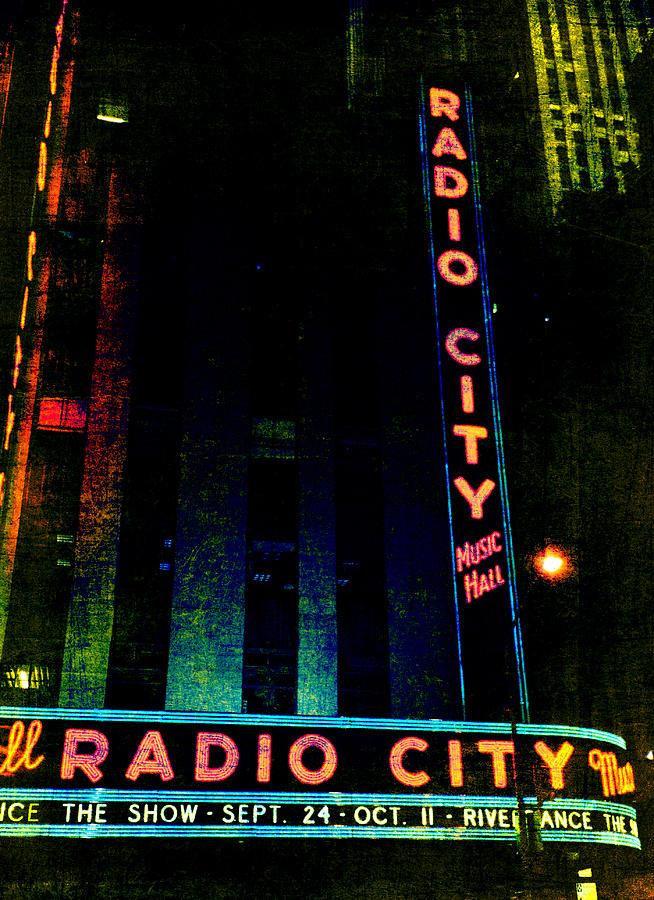 Radio City Music Hall Photograph - Radio City Grunge by Joann Vitali