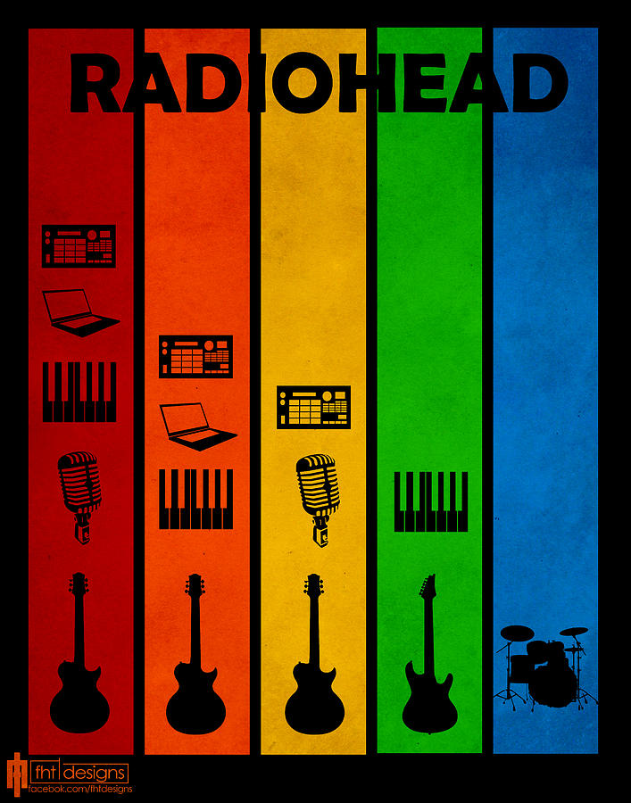 Radiohead Poster Digital Art