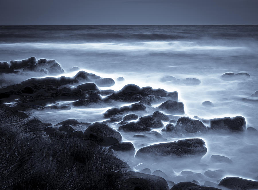 Waves Photograph - Raglan Beach by motography aka Phil Clark