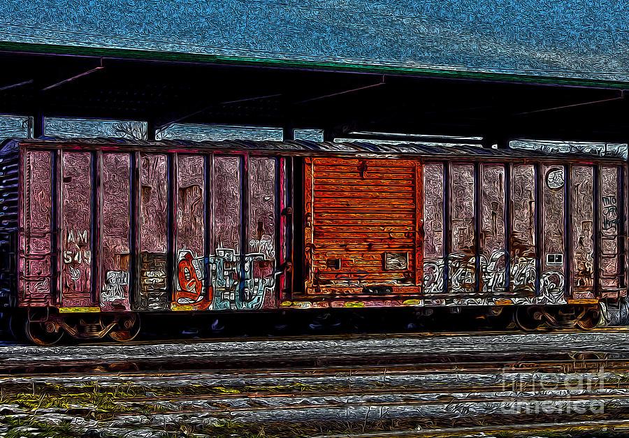 Rail Car Art Photograph