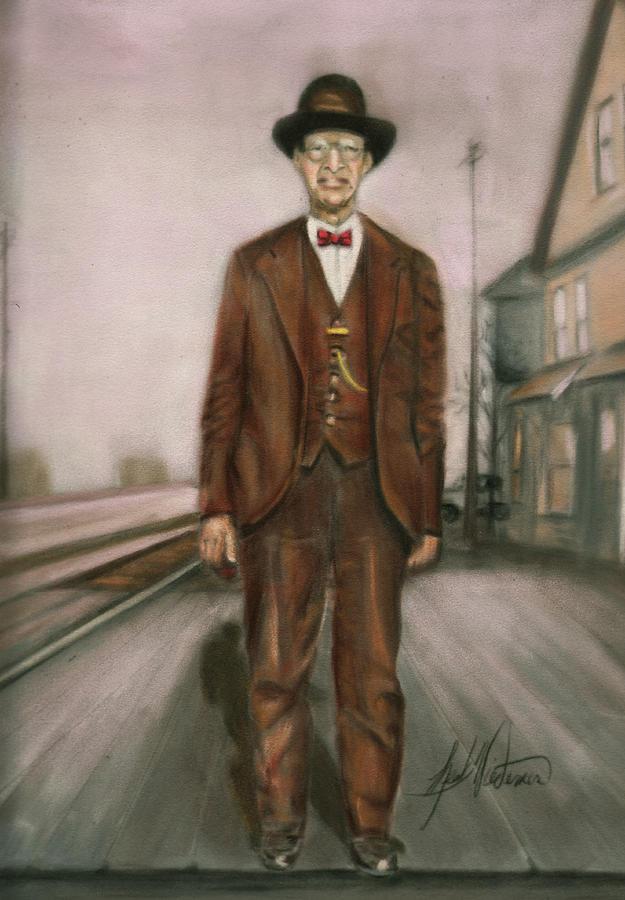 Railroad Man Pastel
