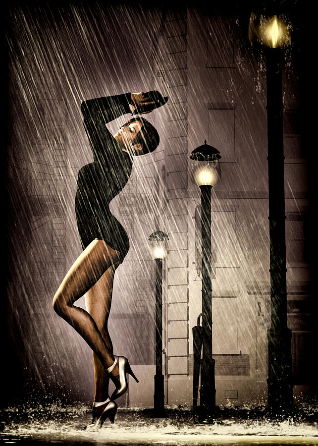 Rain Dance Digital Art  - Rain Dance Fine Art Print