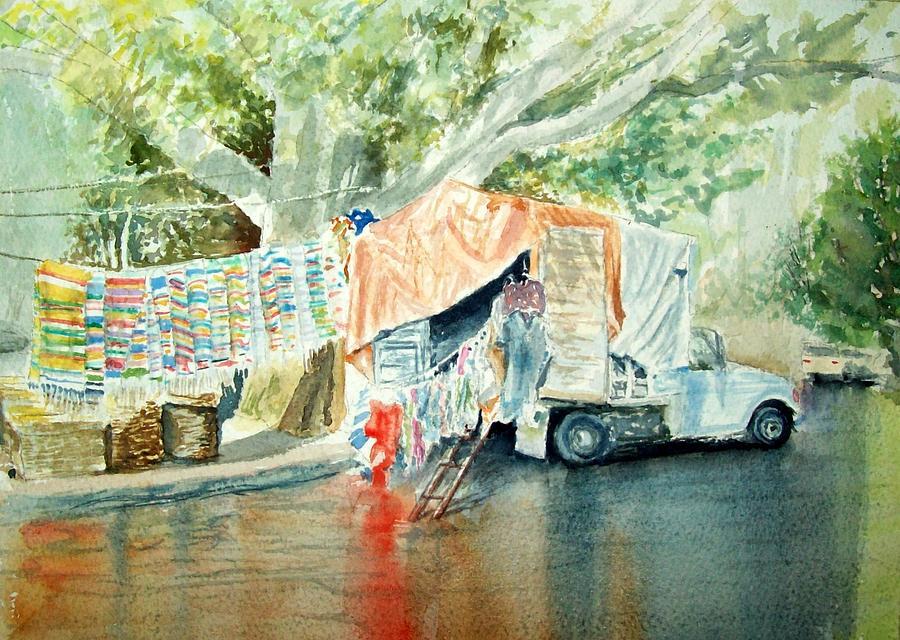 Truck Painting - Rain Day Sale by Patrick DuMouchel