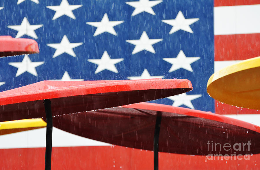 Rain On The Fourth Of July Photograph