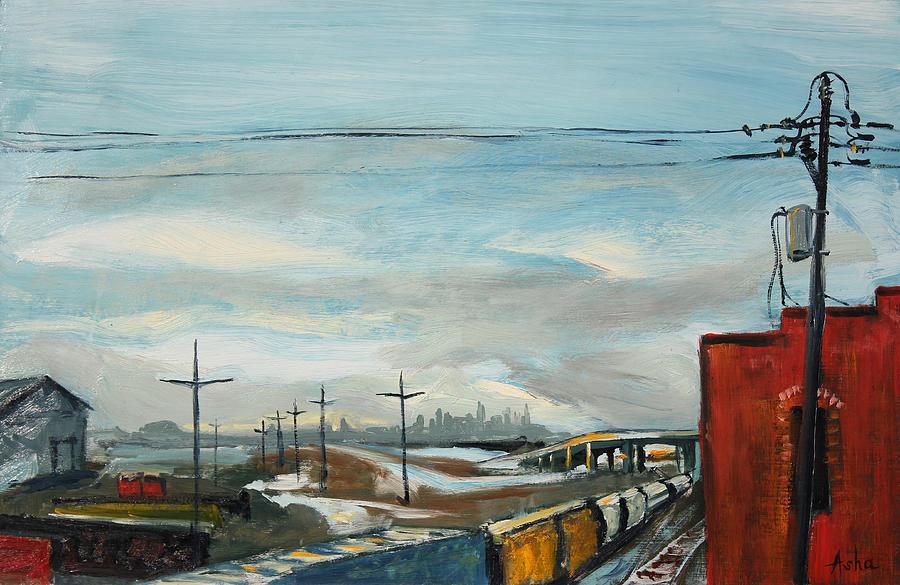 Rain Train Painting