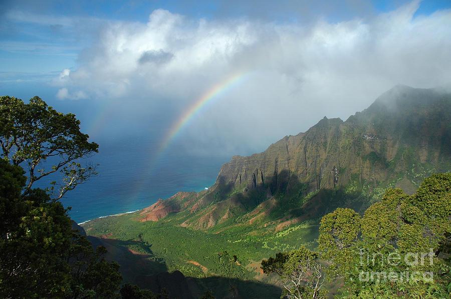 Rainbow At Kalalau Valley Photograph