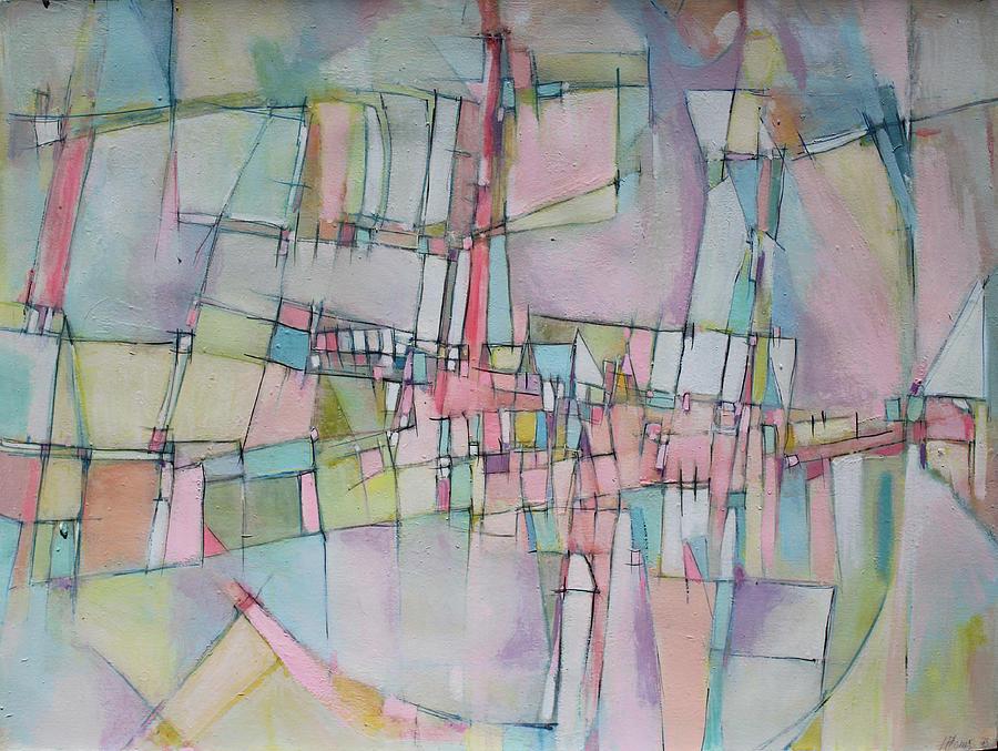 Abstract Painting Painting - Rainbow Avenue by Hari Thomas