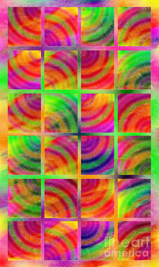 Abstract Digital Art - Rainbow Bliss 3 - Over The Rainbow V by Andee Design