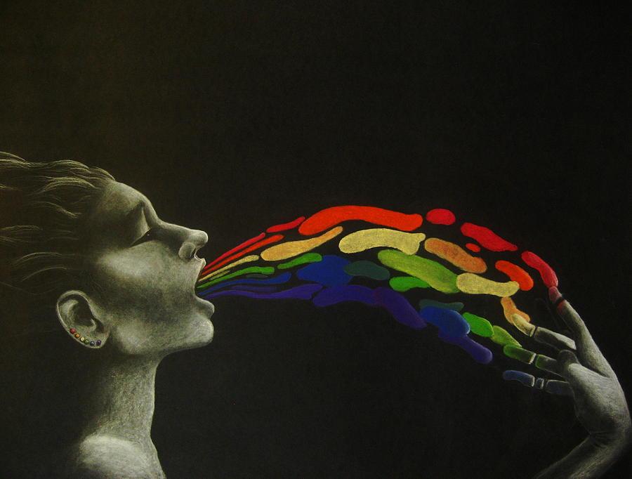 Rainbow Drawing - Rainbow by Carin Billings