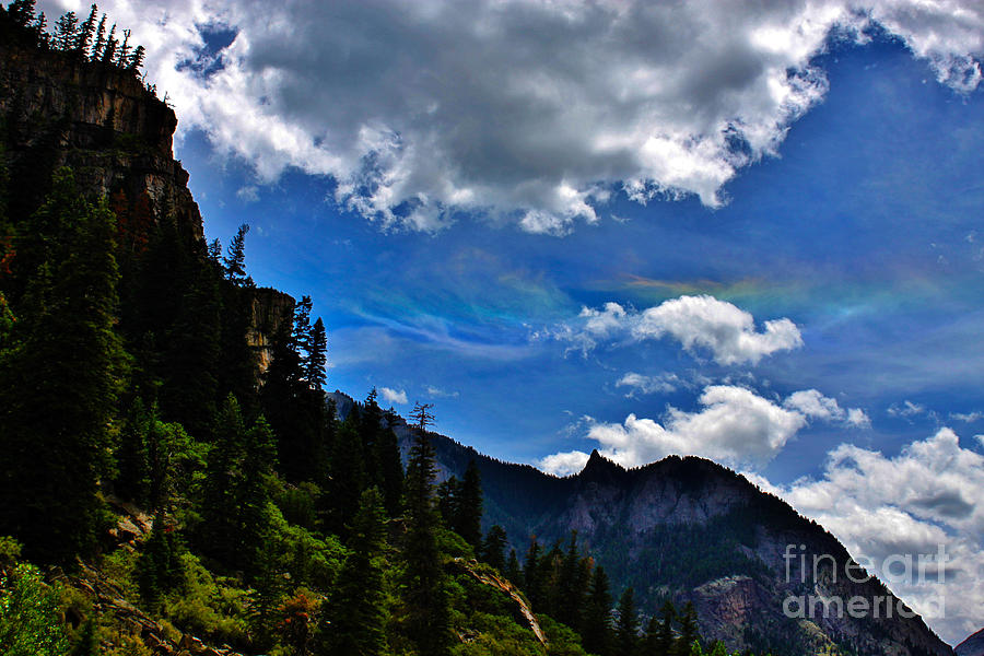 Rainbow Clouds Above Ouray Colorado Photograph  - Rainbow Clouds Above Ouray Colorado Fine Art Print