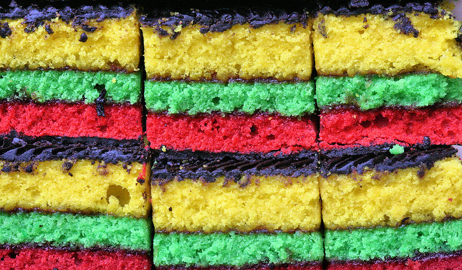 Rainbow Cookie Photograph - Rainbow Cookies by JC Findley