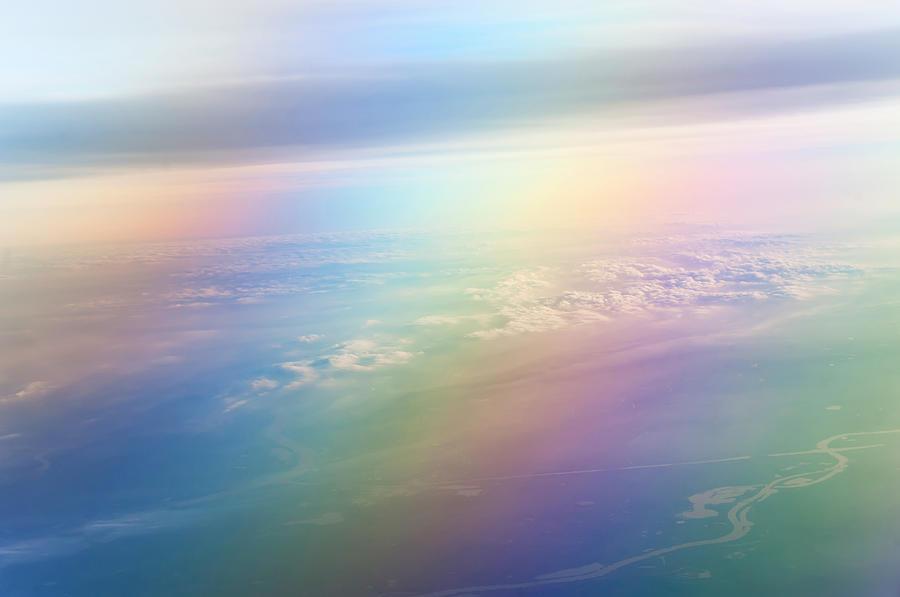 Rainbow Earth. Essence Of Life Photograph