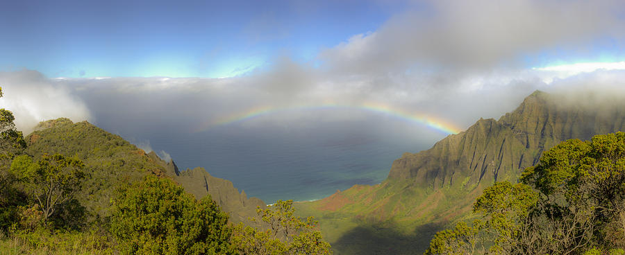 Rainbow Kalalau Valley Photograph  - Rainbow Kalalau Valley Fine Art Print