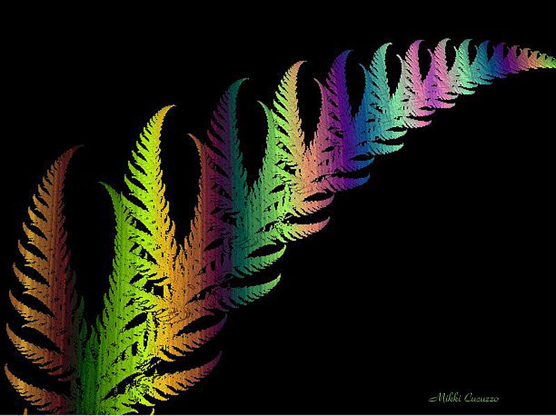 Fractals Photograph - Rainbow Leaves Fractals by Mikki Cucuzzo