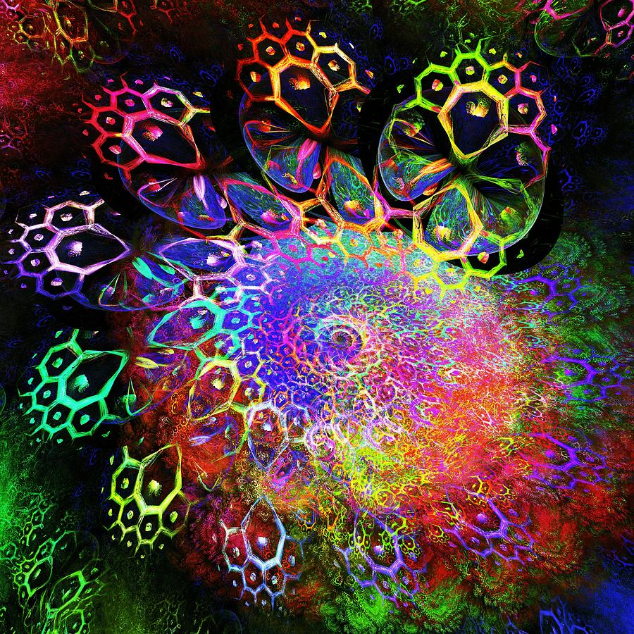Rainbow Leopard Digital Art  - Rainbow Leopard Fine Art Print
