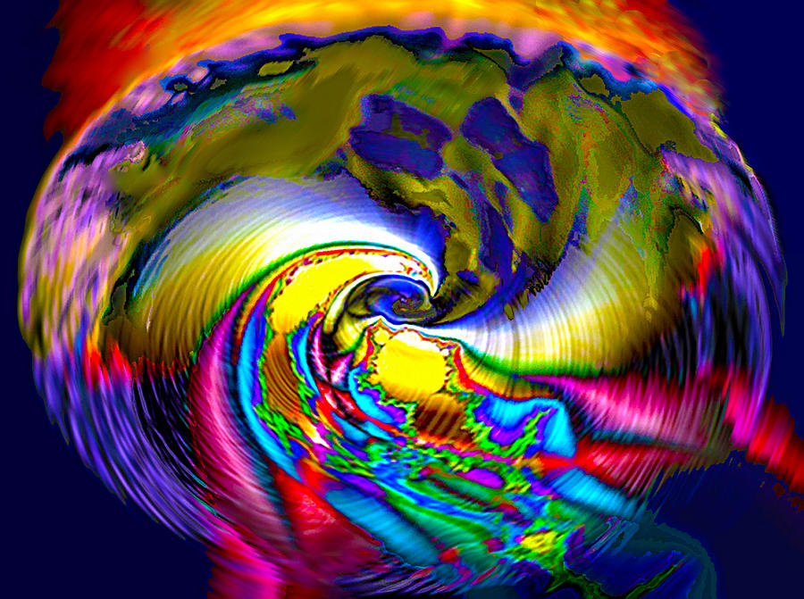 3d Digital Art - Rainbow Liberty V.6 by Rebecca Phillips