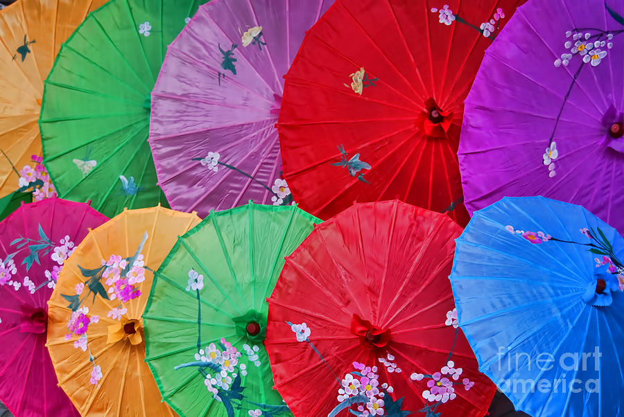 Rainbow Of Parasols   Photograph
