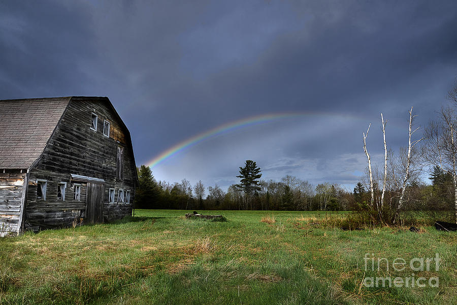 Rainbow On The Farm Photograph