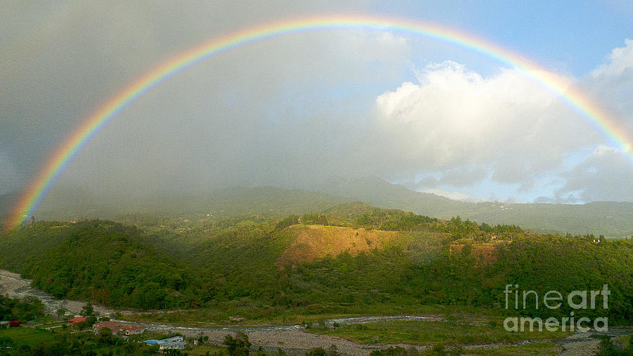 Rainbow Over Boquete Photograph  - Rainbow Over Boquete Fine Art Print
