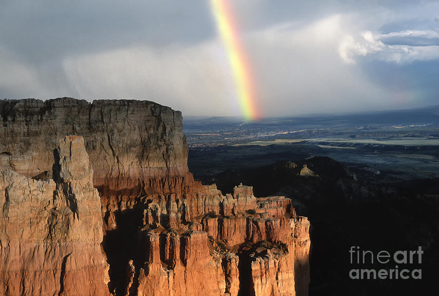 Rainbow Over  Bryce Canyon Photograph